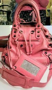 Authentic Balenciaga Mini Pompon in Cyclamen Pink